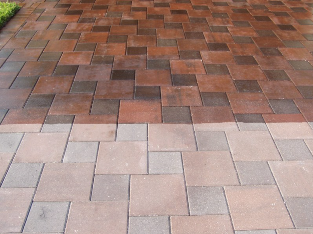 Brick Paver Sealing Wet Look Amp Prevent Mold On Paver