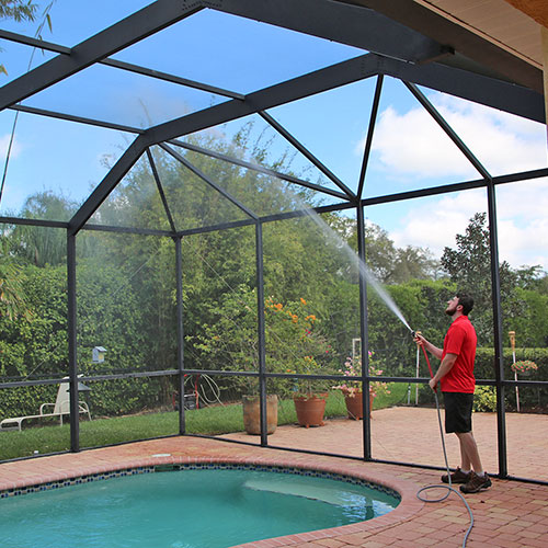 pool cage cleaning in bradenton fl
