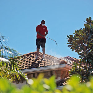 soft wash roof cleaning in Sarasota FL