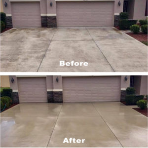 driveway dirty with mold and dirt in sarasota and venice fl area